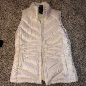 White/cream north face vest